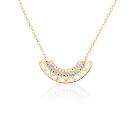 Collier Zoila Plaque Or Jaune Oxyde De Zirconium - Colliers fantaisie Femme | Histoire d'Or