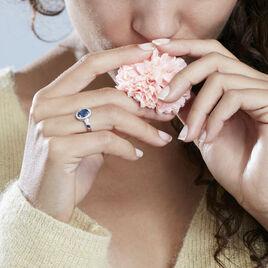 Bague Primevere Or Blanc Saphir Et Diamant - Bagues solitaires Femme   Histoire d'Or
