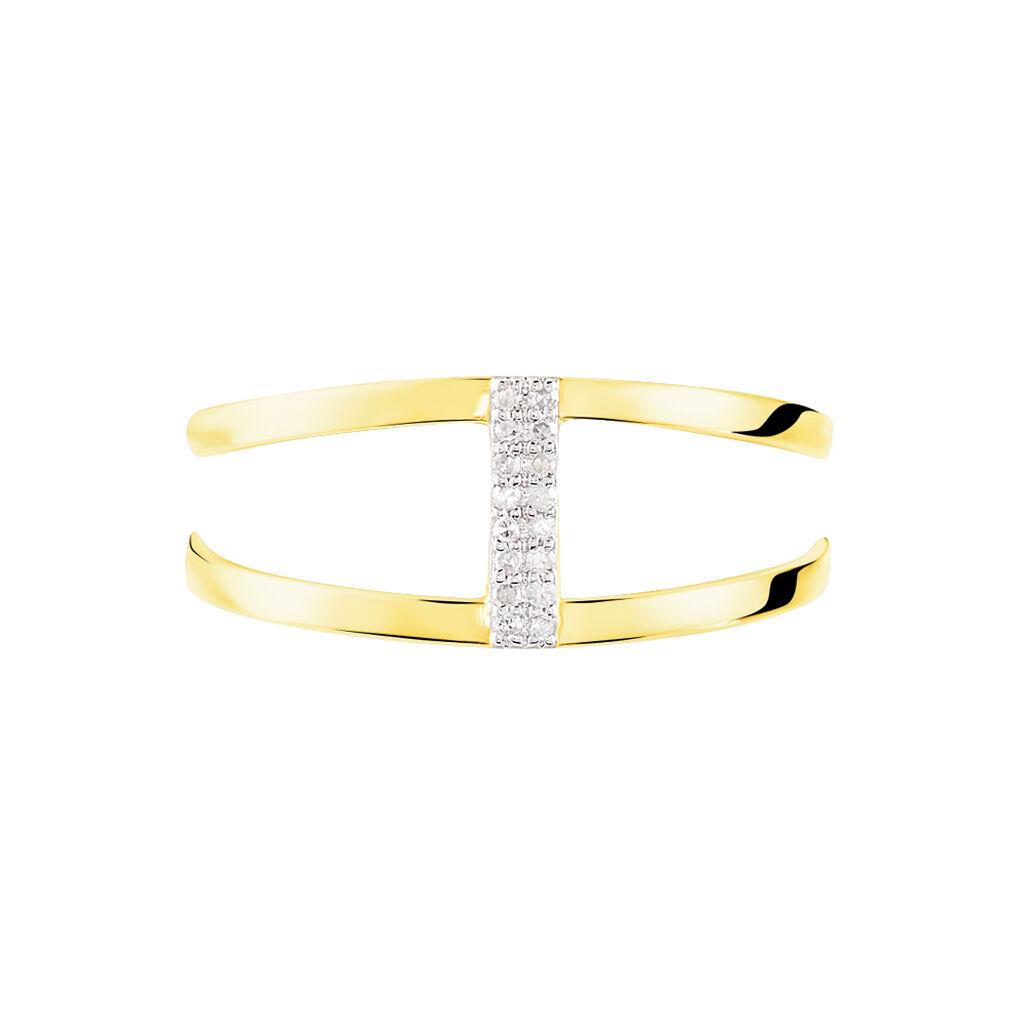 Bague Deborah Or Jaune Diamant - Bagues avec pierre Femme | Histoire d'Or