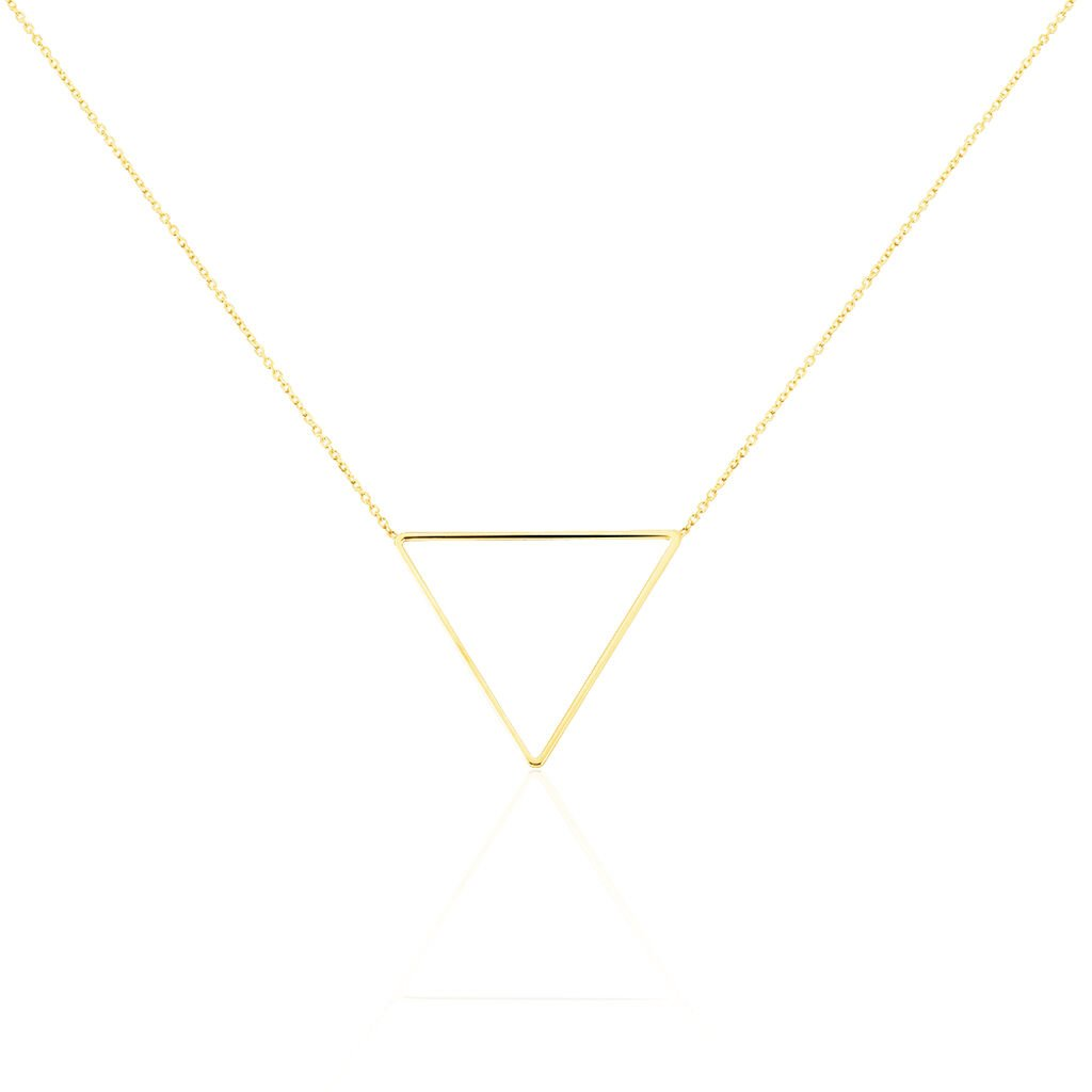 Collier Triangle Or Jaune - Bijoux Femme | Histoire d'Or