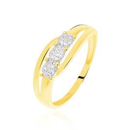 Bague Nolan Or Jaune Diamant - Bagues avec pierre Femme   Histoire d'Or