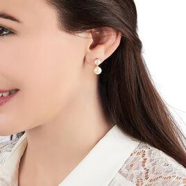 Bijoux D'oreilles Seona Or Jaune Perle De Culture - Ear cuffs Femme   Histoire d'Or