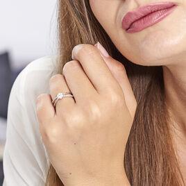 Bague Kuta Or Blanc Diamant - Bagues avec pierre Femme | Histoire d'Or