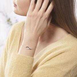 Bracelet Odile Argent Blanc Oxyde De Zirconium - Bracelets Infini Femme   Histoire d'Or