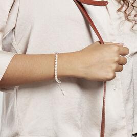 Bracelet Rosolino Argent Rhodié Perle De Culture - Bracelets fantaisie Femme   Histoire d'Or