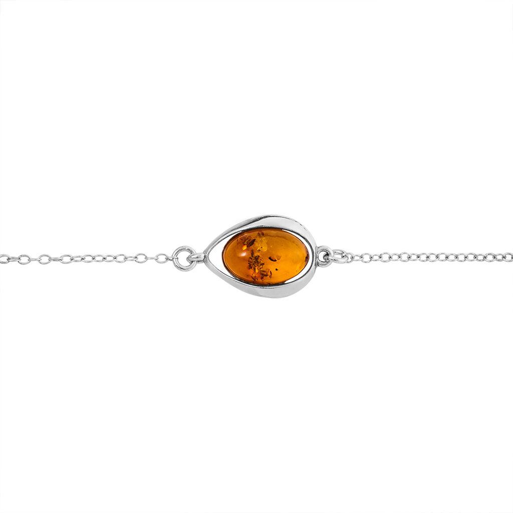 Bracelet Hilda Argent Blanc Ambre - Bracelets fantaisie Femme | Histoire d'Or