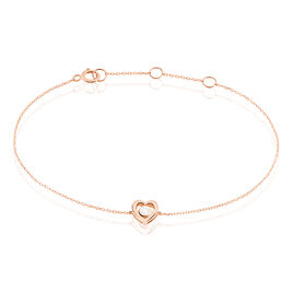 Bracelet Fidelia Or Rose Diamant - Bracelets Coeur Femme | Histoire d'Or