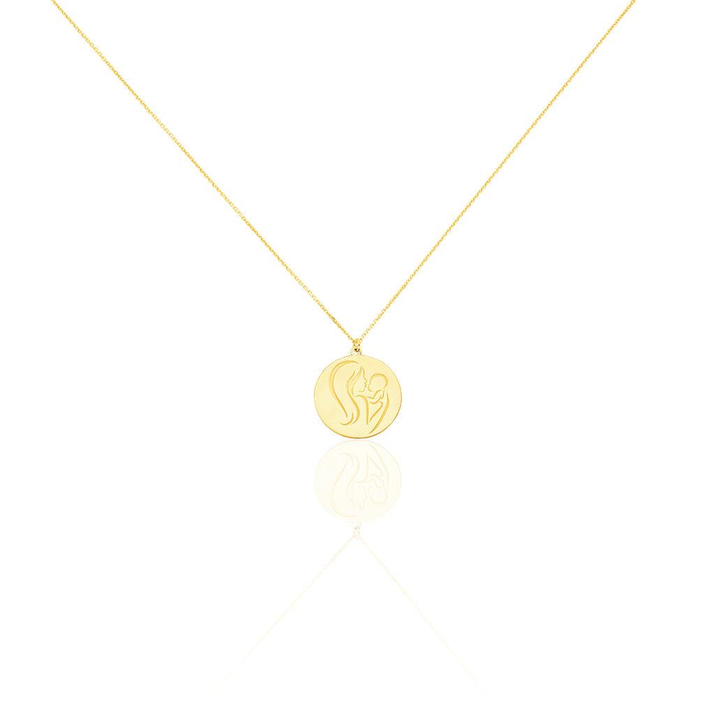 Collier Cobeia Maille Forcat Or Jaune - Colliers Croix Femme   Histoire d'Or