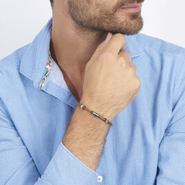 Bracelet Paulin Acier Tricolore - Bracelets fantaisie Homme | Histoire d'Or