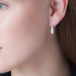Boucles D'oreilles Puces Celine Or Blanc Diamant - Boucles d'oreilles pendantes Femme | Histoire d'Or