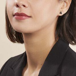 Boucles D'oreilles Puces Amellia Argent Rose Oxyde De Zirconium - Boucles d'oreilles fantaisie Femme | Histoire d'Or