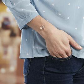 Bracelet Argent Rose Douglas Cœur Oxyde - Bracelets Arbre de vie Femme | Histoire d'Or