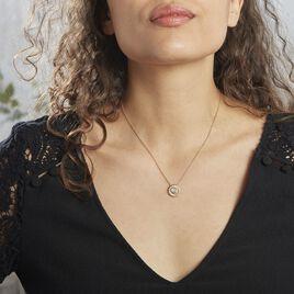 Collier Plaqué Or Jaune Lelio Pierre De Lune - Bijoux Femme   Histoire d'Or