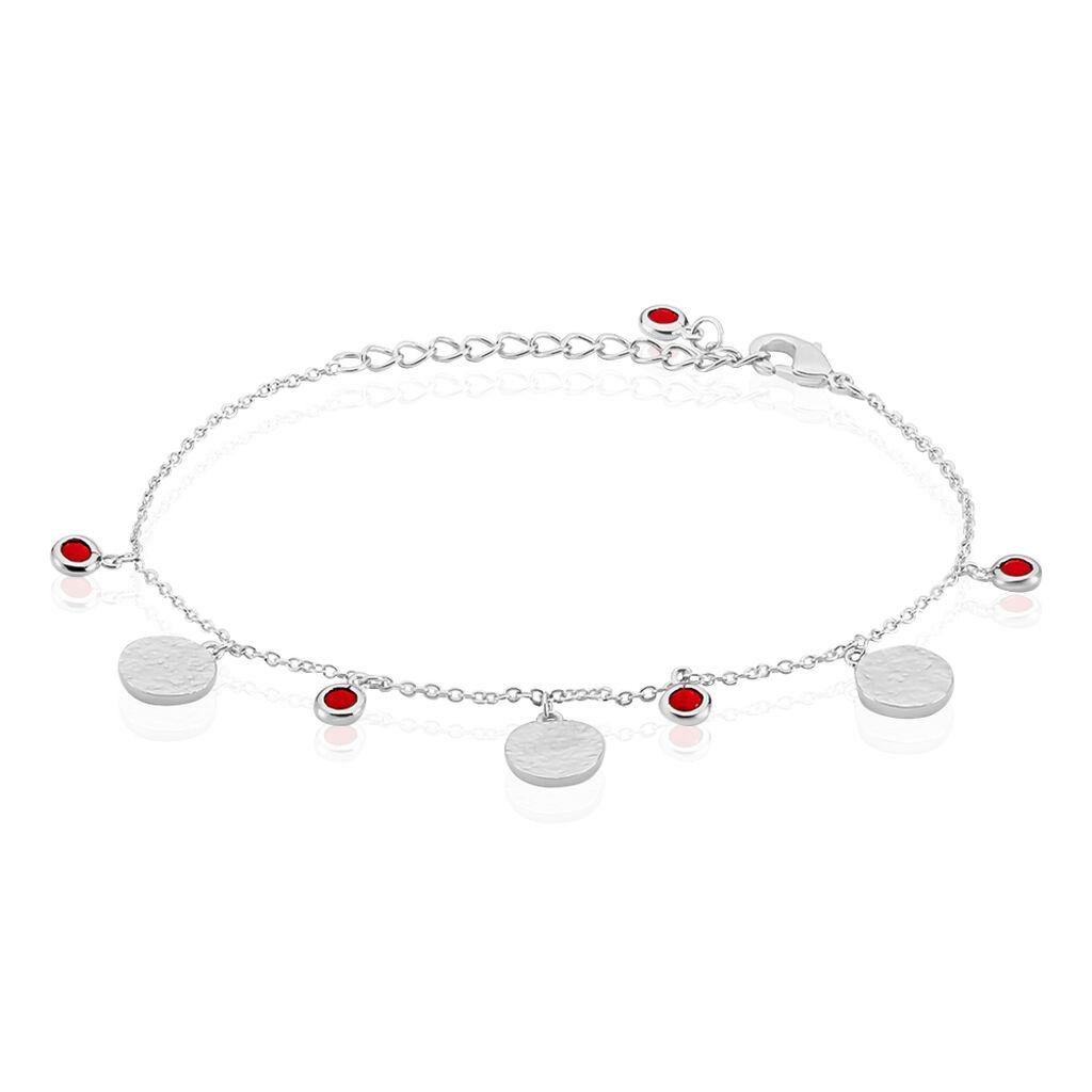 Bracelet Tanaya Argent Blanc Verre - Bracelets fantaisie Femme   Histoire d'Or