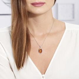 Collier Coletta Argent Blanc Ambre - Bijoux Femme | Histoire d'Or