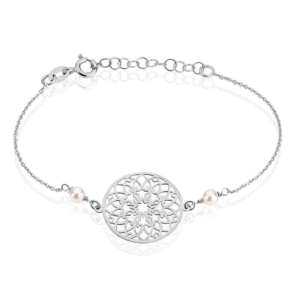 Bracelet Leanah Argent Blanc Perle De Culture - Bracelets fantaisie Femme   Histoire d'Or