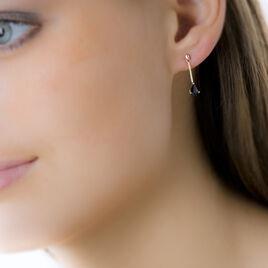 Boucles D'oreilles Pendantes Goutte Or Jaune Saphir - Boucles d'oreilles pendantes Femme   Histoire d'Or