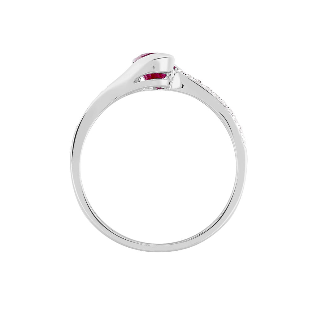 Bague Anja Or Blanc Rubis Et Diamant - Bagues solitaires Femme | Histoire d'Or