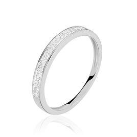 Alliance Siranna Or Blanc Diamant - Alliances Femme | Histoire d'Or