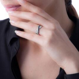 Bague Martika Or Blanc Saphir Diamant - Bagues avec pierre Femme | Histoire d'Or