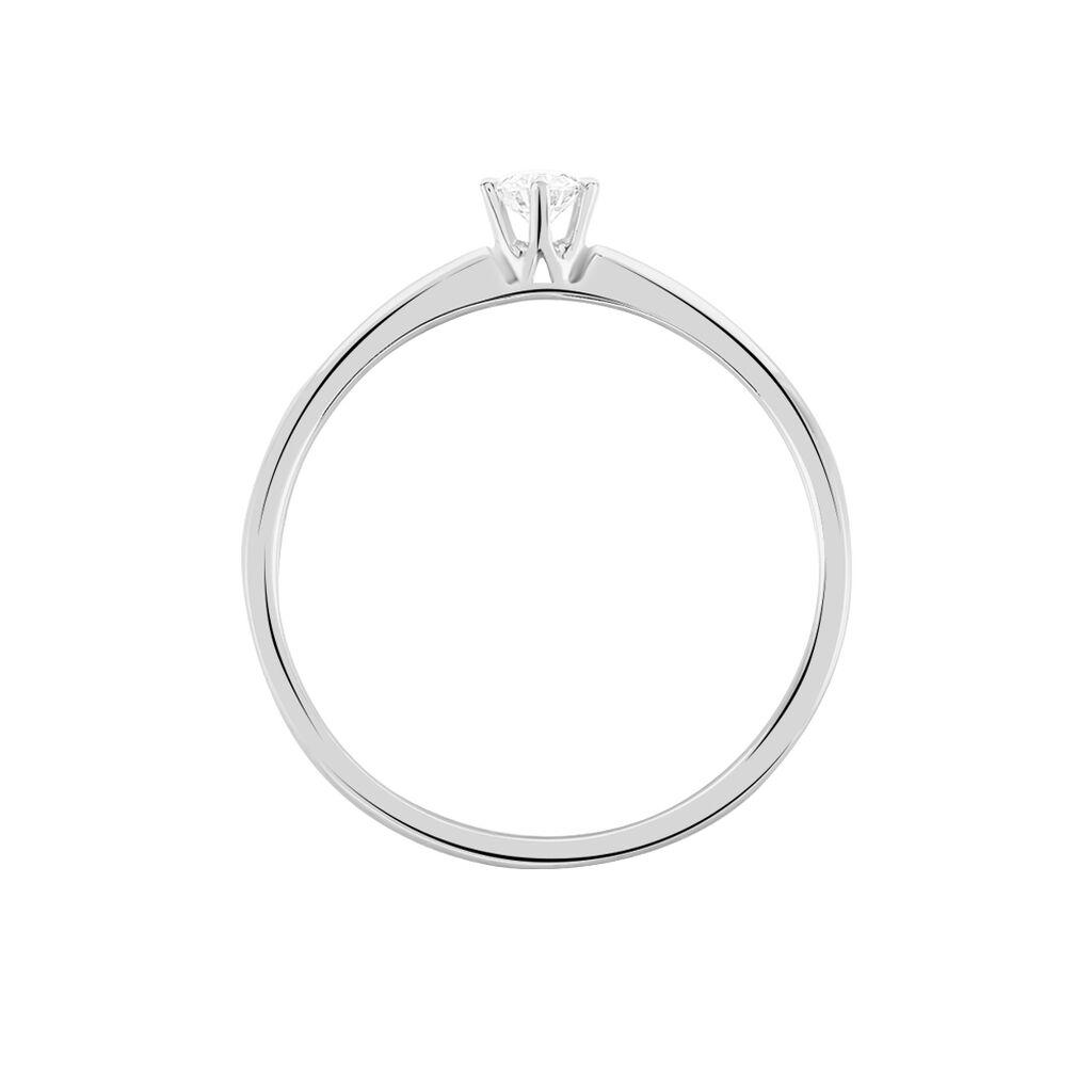 Bague Solitaire Samantha Or Blanc Diamant - Bagues solitaires Femme | Histoire d'Or
