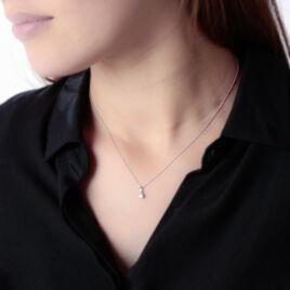 Pendentif Meliya Or Blanc Diamant - Pendentifs Femme | Histoire d'Or