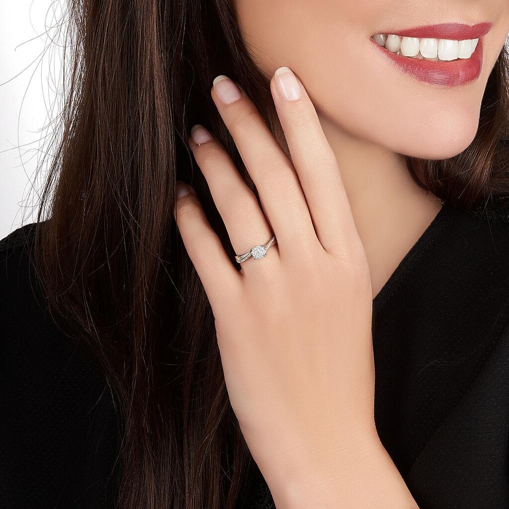 Bague Hebe Or Blanc Diamant - Bagues Etoile Femme   Histoire d'Or