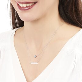 Collier Or Blanc Topaze - Colliers Coeur Femme | Histoire d'Or