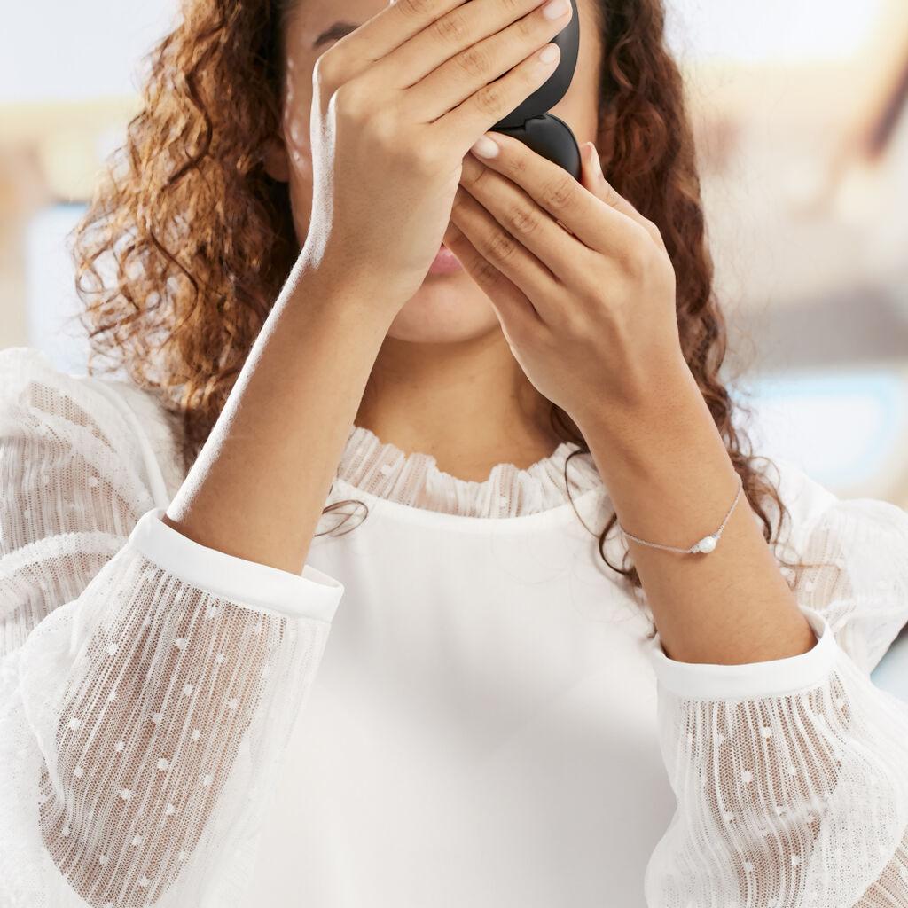 Bracelet Sari Argent Blanc Perle De Culture Et Oxyde De Zirconium - Bracelets fantaisie Femme | Histoire d'Or