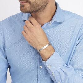 Bracelet Identité Casper Argent Gris - Gourmettes Homme   Histoire d'Or