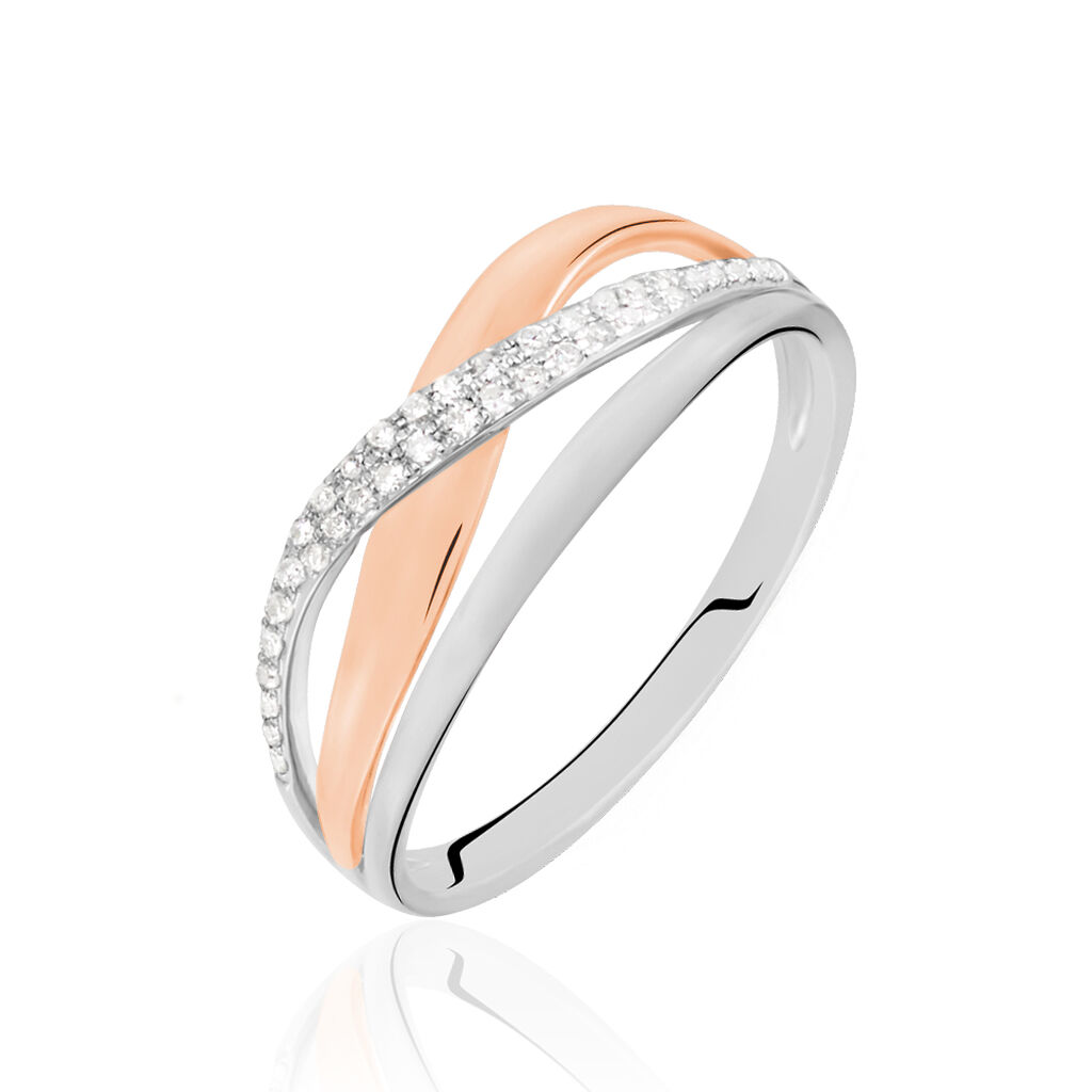 Bague Nene Or Bicolore Diamant