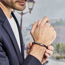 Bracelet Tortin Acier Bicolore - Bijoux Homme | Histoire d'Or