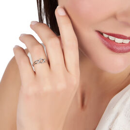 Bague Loula Or Blanc Diamant - Bagues avec pierre Femme   Histoire d'Or