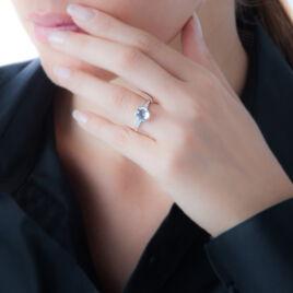 Bague Selinay Or Blanc Topaze Et Diamant - Bagues avec pierre Femme   Histoire d'Or