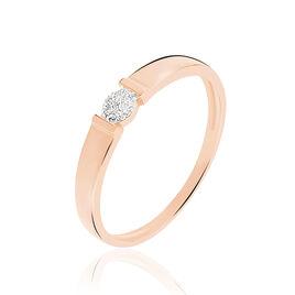 Bague Daliane Or Rose Diamant - Bagues avec pierre Femme | Histoire d'Or