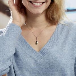 Collier Odilon Argent Blanc Ambre - Colliers fantaisie Femme | Histoire d'Or