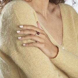 Bague Chachou Plaque Or Jaune Oxyde De Zirconium - Bagues solitaires Femme | Histoire d'Or