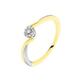 Bague Cerisette Or Jaune Diamant - Bagues avec pierre Femme | Histoire d'Or