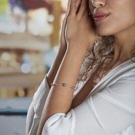 Bracelet Catarina Argent Blanc - Bracelets fantaisie Femme   Histoire d'Or