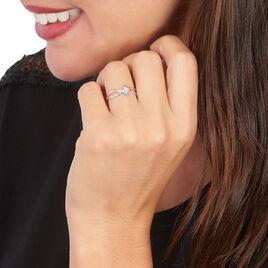 Bague Jone Or Blanc Diamant - Bagues avec pierre Femme | Histoire d'Or