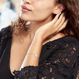 Bracelet Plaque Or Atea Ronde Main De Fatma Oxydes - Bracelets Main de Fatma Femme | Histoire d'Or