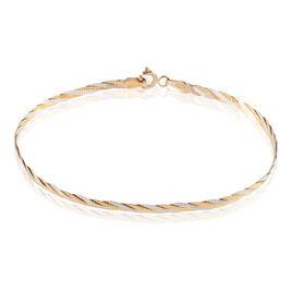 Bracelet Carlo Maille Marine Ronde Or Bicolore - Bracelets chaîne Femme | Histoire d'Or
