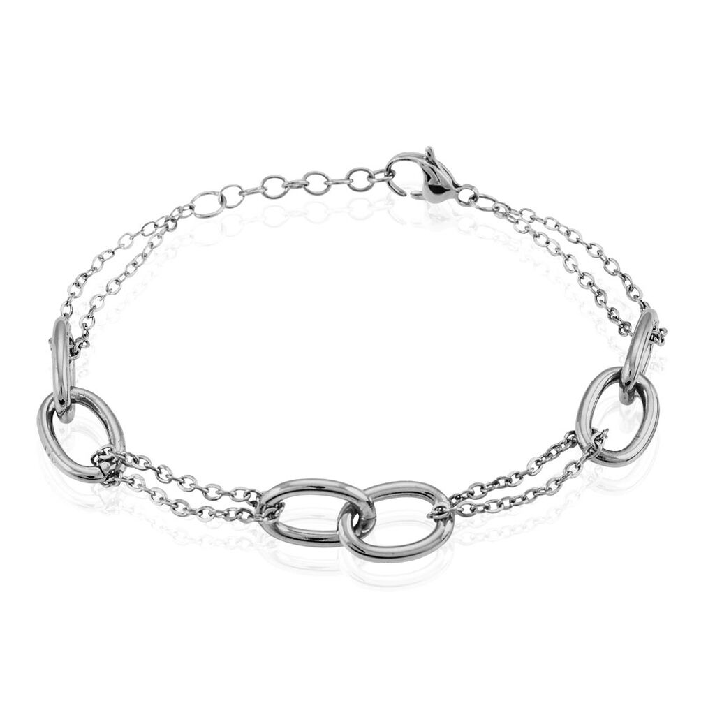 Bracelet Dalya Acier Blanc - Bracelets fantaisie Femme   Histoire d'Or