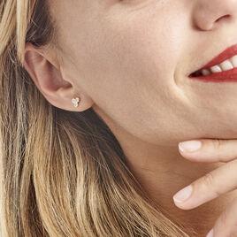 Boucles D'oreilles Or Jaune Soucona Oxydes - Boucles d'Oreilles Coeur Femme | Histoire d'Or