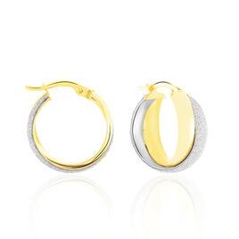Créoles Lolly Croisees Fil Glitter Or Jaune - Boucles d'oreilles créoles Femme | Histoire d'Or