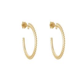 Créoles Janane Plaque Or Jaune - Boucles d'oreilles créoles Femme | Histoire d'Or