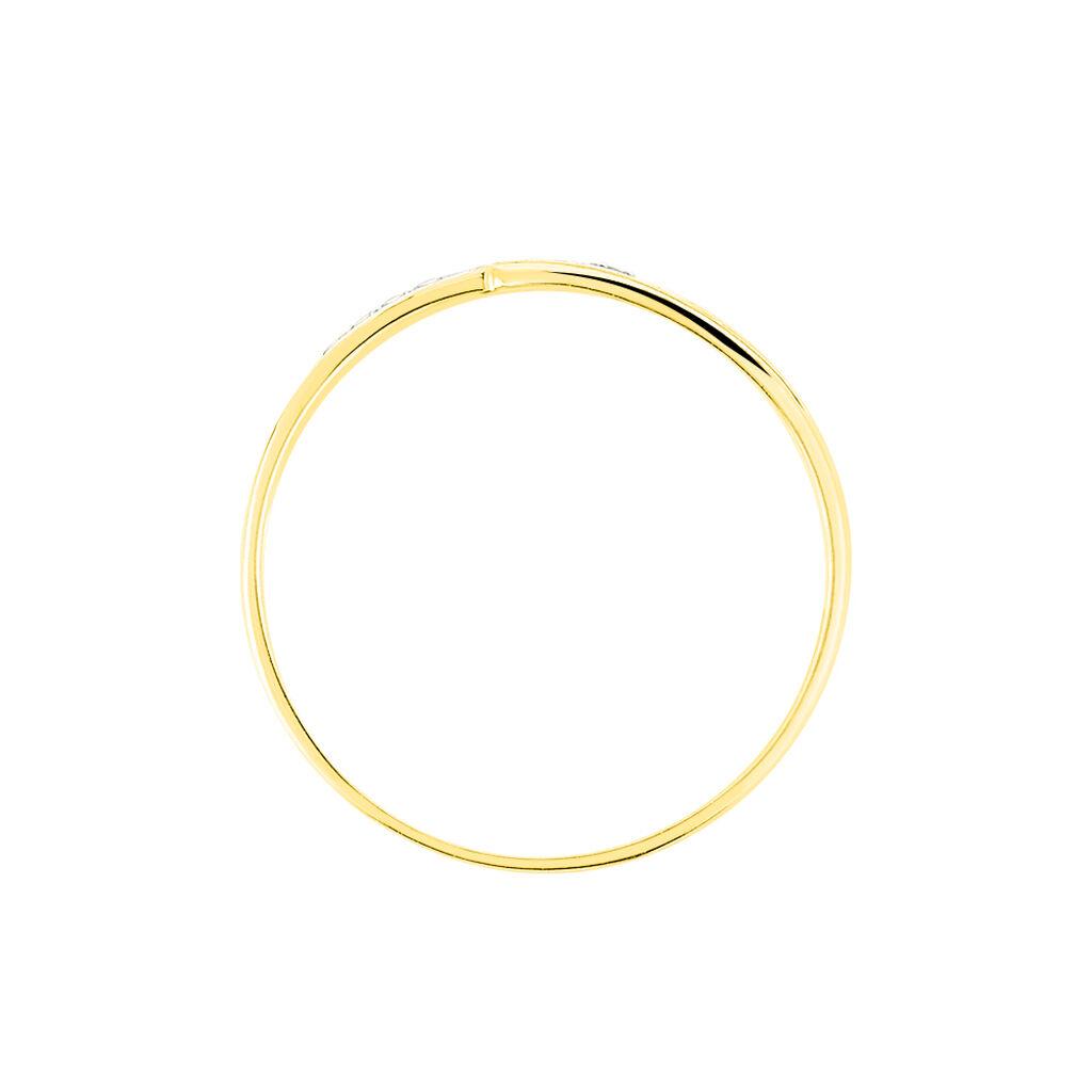 Bague Solena Or Jaune Diamant - Bagues avec pierre Femme | Histoire d'Or
