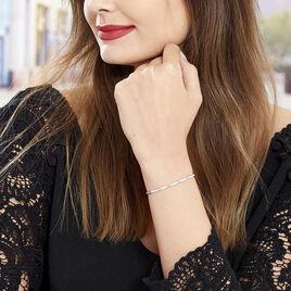Bracelet Celoni Argent Blanc Oxyde De Zirconium - Gourmettes Femme | Histoire d'Or