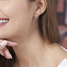 Boucles D'oreilles Pendantes Maria-lourdes Plaque Or Oxyde - Boucles d'oreilles fantaisie Femme   Histoire d'Or