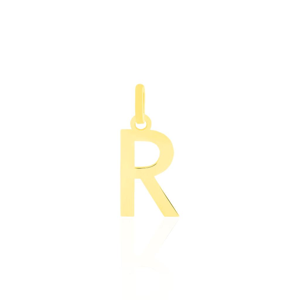Pendentif Or Jaune Faviola Lettre R - Pendentifs Unisexe   Histoire d'Or